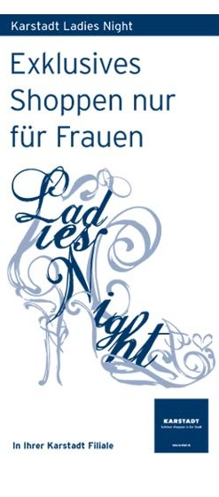 Karstadt-Ladies-Night-Flyer