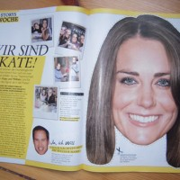 Kate Middleton zum ausschneiden