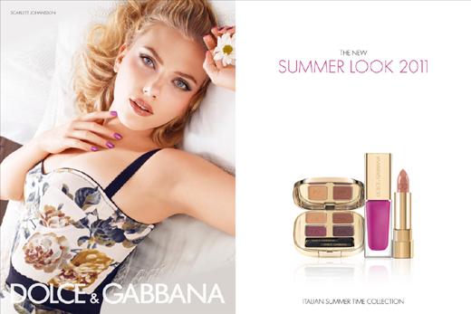 Scarlett Johansson für Dolce & Gabbana Make Up Sommer 2011