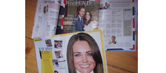 Zeitungen über die Royal Hochzeit
