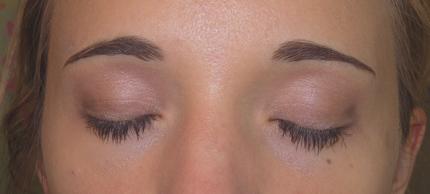 Augenmake up mit big beautiful eyes