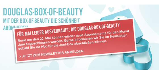 Douglas Box of Beauty Ausverkauft!
