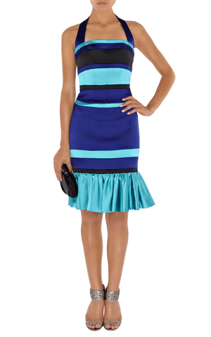 Satin-Kleid Karen Millen blau