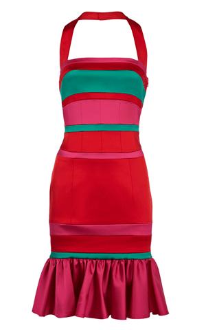 Satin-Kleid Karen Millen rot pink