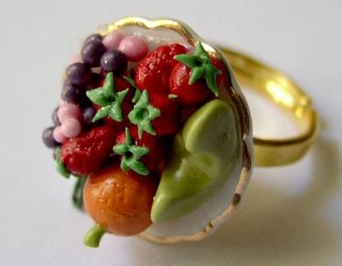 Früchteteller golden Dollhouse – Ring