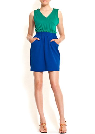 Colour Blocking Kleid von Mango