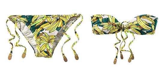 Bananen Bikini H&M