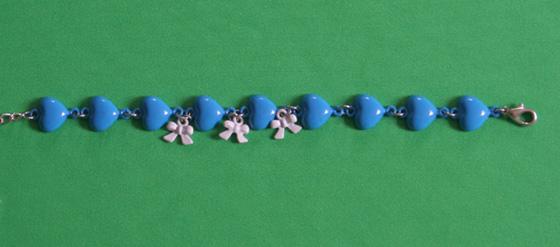 blaues Herz-Armband