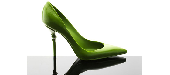 CHOCOLATE & GREEN TEA STILETTO JEAN PAUL HEVIN