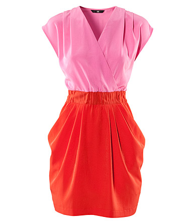 Colour Blocking Kleid von H&M