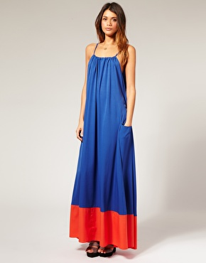 Colour Blocking Maxikleid von ASOS