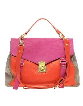 Tasche im Colour Blocking Design