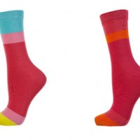 Socken in Colour Blocking Style