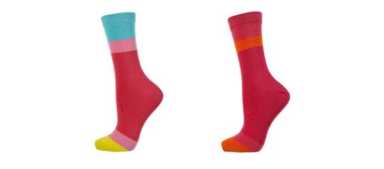 Socken in Colour Blocking Style