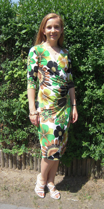 Tagesoutfit Blumen Sommerkleid