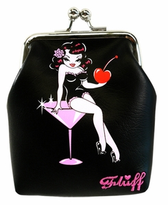 Martini Girl- Kiss Lock Portemonnaie $ 12,-