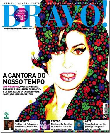 Cover Bravo Magazine Brazil Januar 2011 Amy Winehouse