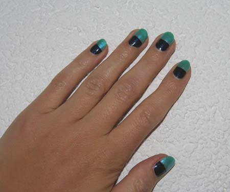 Bi Colour Nägel