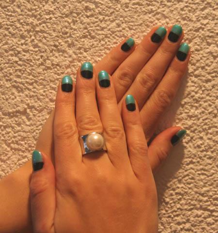 Bi Colour Trend Fingernägel