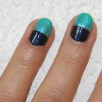 Colour Blocking Fingernägel