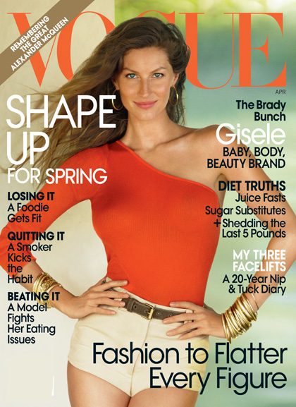 Gisele Bündchen auf dem Vogue Cover