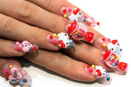 Hello Kitty Nageldesign