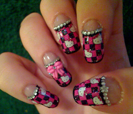 Hello Kitty Nagelmotiv