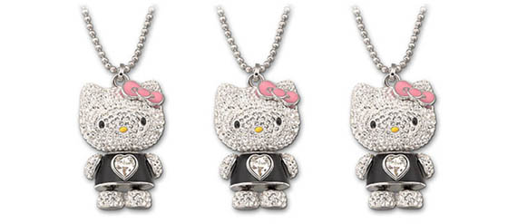 die hello kitty swarovski kollektion. Black Bedroom Furniture Sets. Home Design Ideas