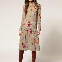 ASOS Kleid mit Vogelmotiv