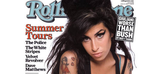 Rolling Stone Cover mit Amy Winehouse