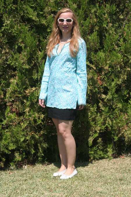 Tagesoutfit Kolibritunika von Laura Ashley