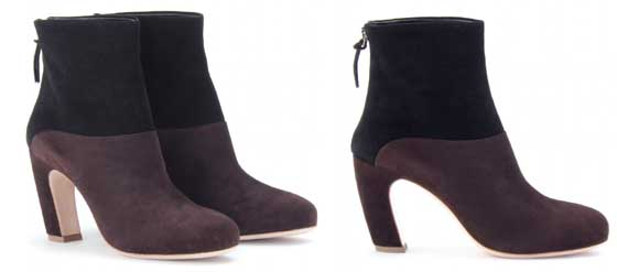 Booties aus Veloursleder MIU MIU geschwungener Absatz