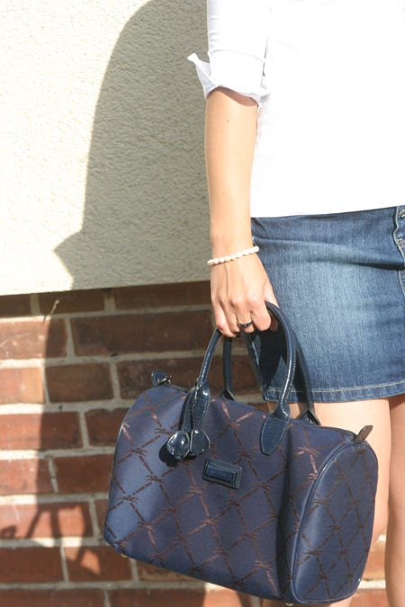 dunkelblaue Longchamp Tasche