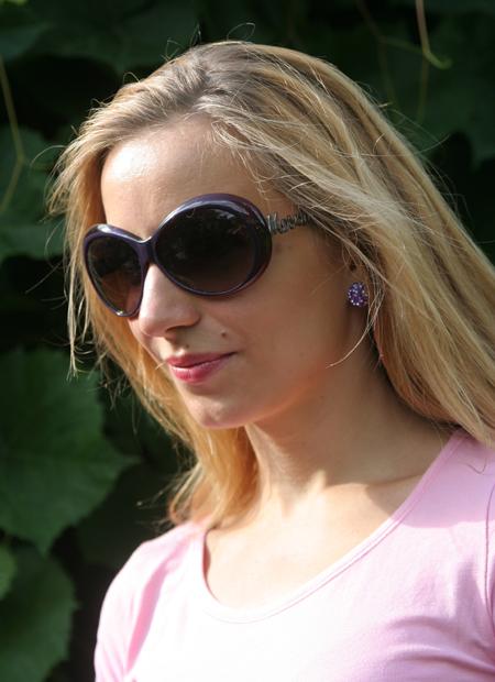 Meine neue lila Sonnenbrille von MOSCHINO