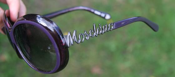 Sonnenbrille von MOSCHINO lila