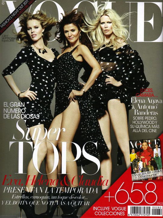 Vogue Spanien Cover September 2011