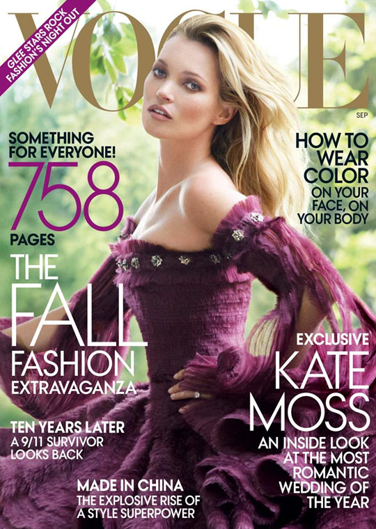 Vogue US Cover September 2011 Kate Moss