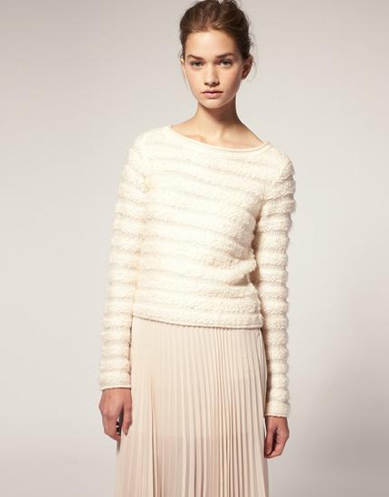 ASOS – Pullover mit strukturierten Streifen