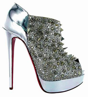 Bridget's Back von Christian Louboutin Ankle Boot Silver