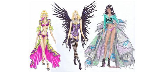 Erste Skizzen der Victoria's Secret Fashion Show 2011