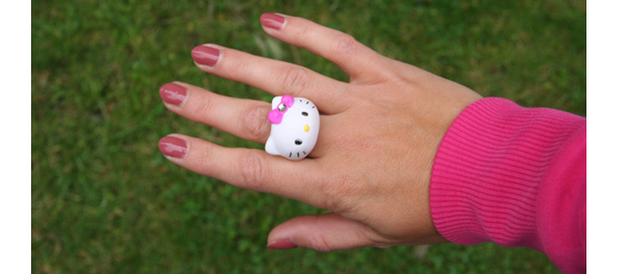 Hello Kitty Automatenring