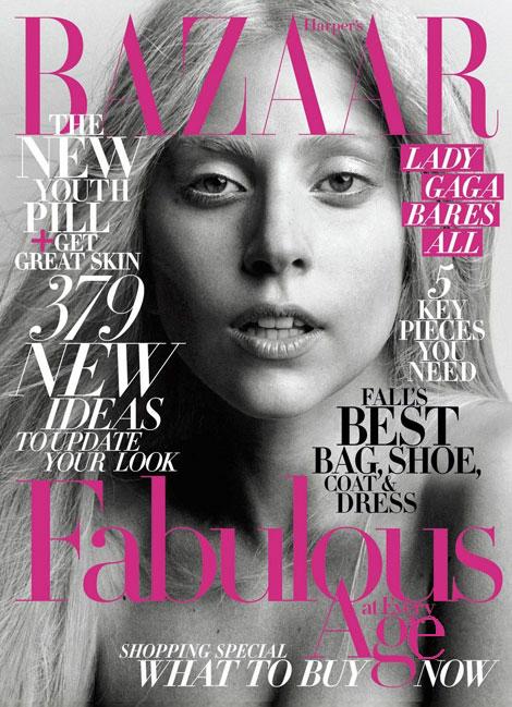 Lady Gaga's Harper's Bazaar Cover Oktober 2011