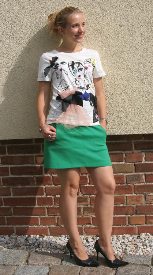 Lanvin H&M Shirt und ZARA Rock
