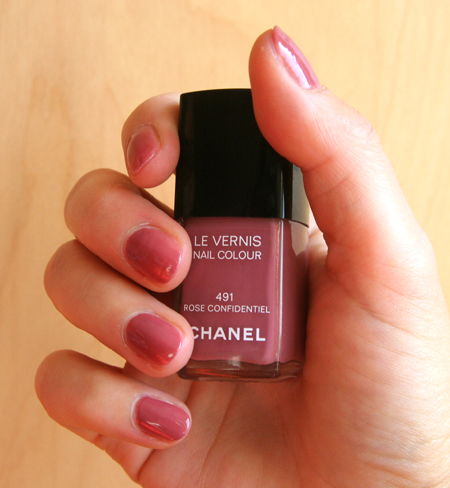 Le Vernis Chanel Rose Confidentiel No 491