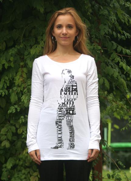 Marie im Shirt von Karl Lagerfeld