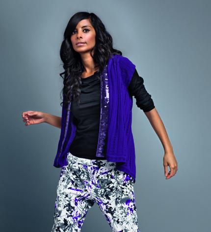 NKD Design Collection Damen Strickjacke Collien Fernandes