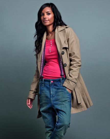 NKD Design Collection Trenchcoat mit Gurtel Collien Fernandes