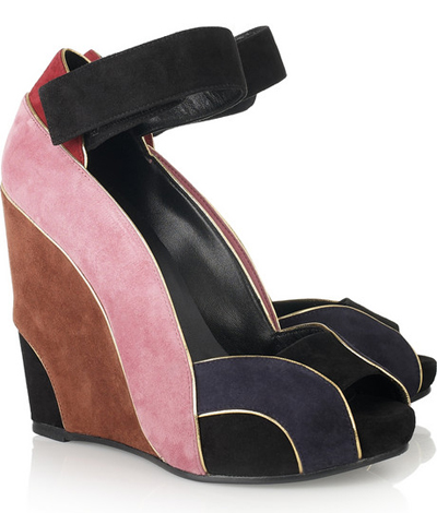 PIERRE HARDY Color block suede wedges