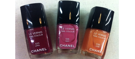Chanel Nagellacke Frühling 2012 April Mai June