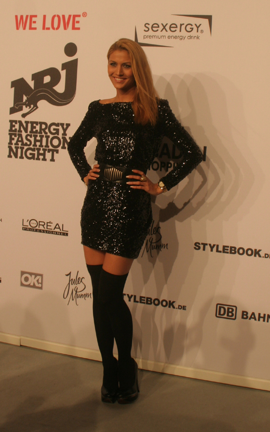 Fiona Erdmann bei der We Love Energy Fashion Night Berlin